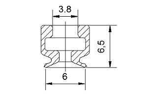 VACUUM PADS PFG-06A